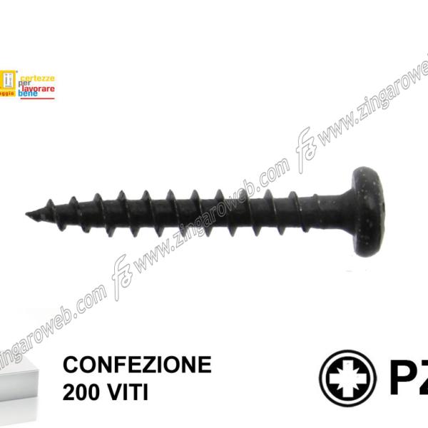 VITE TRUCIOLARE TC IMPRONTA CROCE PZ2 NERE pz. 200 mm.5,0x50 prodotto da TECFI