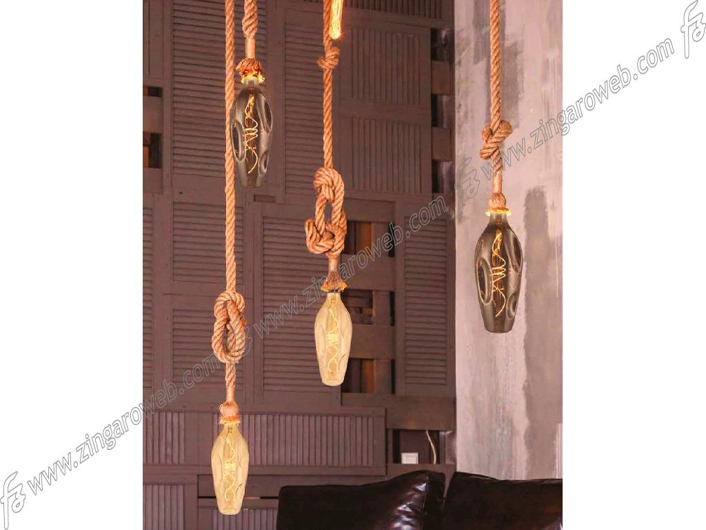LAMPADA LED DL VINT FIL BOTTLE BUMPED 220/240V E27-5w 250Lm 2000K SPIRAL DIM GOLD prodotto da DAYLIGHT