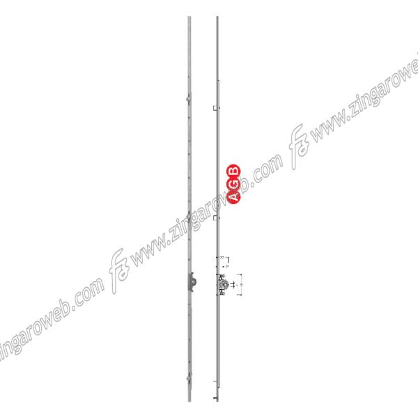 CREMONESE TOP A ESPANSIONE ANTA SINGOLA E25 1800-2000 mm. ZSL - SILVER prodotta da AGB
