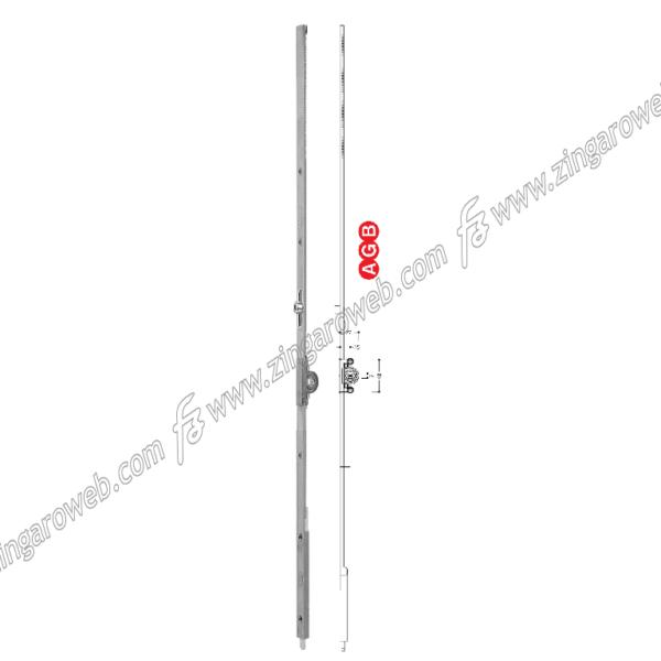 CREMONESE TOP A ESPANSIONE DOPPIA ANTA E15 U11 ZSL- SILVER 360-600 prodotto da AGB