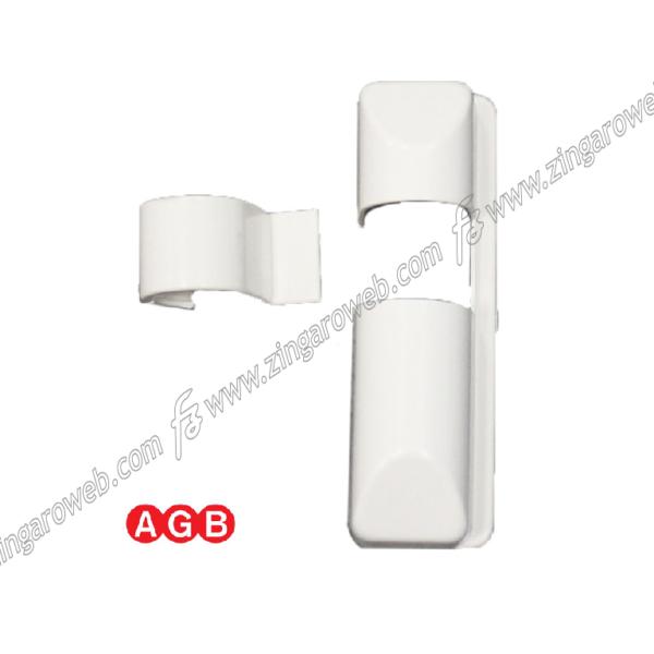 COPERTURA SUPPORTO d.34 mm. FORBICE+ANGOLARE ABB - BIANCO RAL9010 DX prodotto da AGB