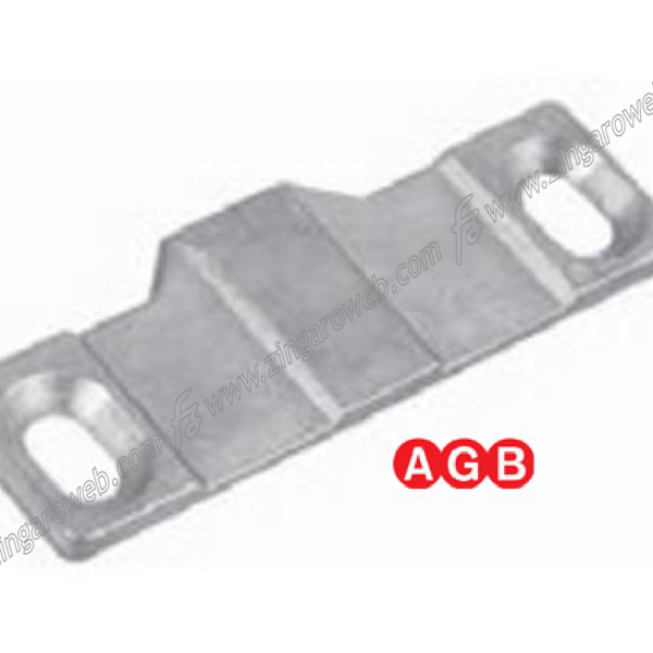 PIASTRINO PER INCONTRO DI SOSTEGNO PARTE ANTA DA 19 mm. ZSL-SILVER prodotta da AGB