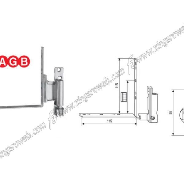 CERNIERA TESI ARIA 04 DA 34 mm. BATTUTA 15/18 DX ARIA 04 ZSL-SILVER prodotta da AGB