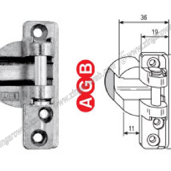 SUPPORTO TESI FORBICE ARIA 04 BATTUTA 15/18 ZSL-SILVER prodotto da AGB