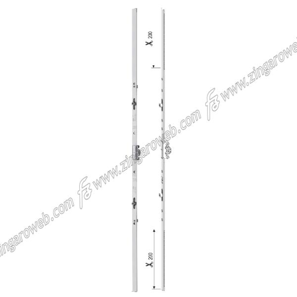 CREMONESE TESI ANTA/RIBALTA ZSL ALTEZZA MANIGLIA VARIABILE E15 GR6 2000-2400 mm. prodotta da AGB