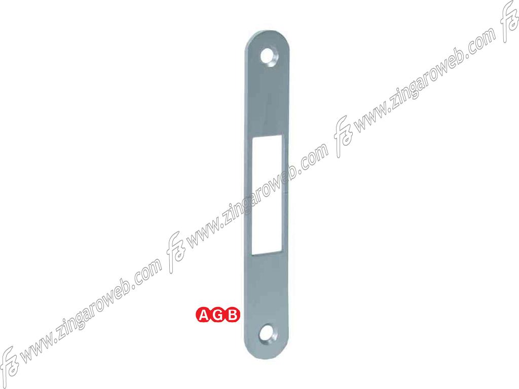 INCONTRO REVERSIBILE PER SERRATURA SCIVOLA TT FRONTALE 18x128 mm. ACO-CROMO OPACO prodotto da AGB