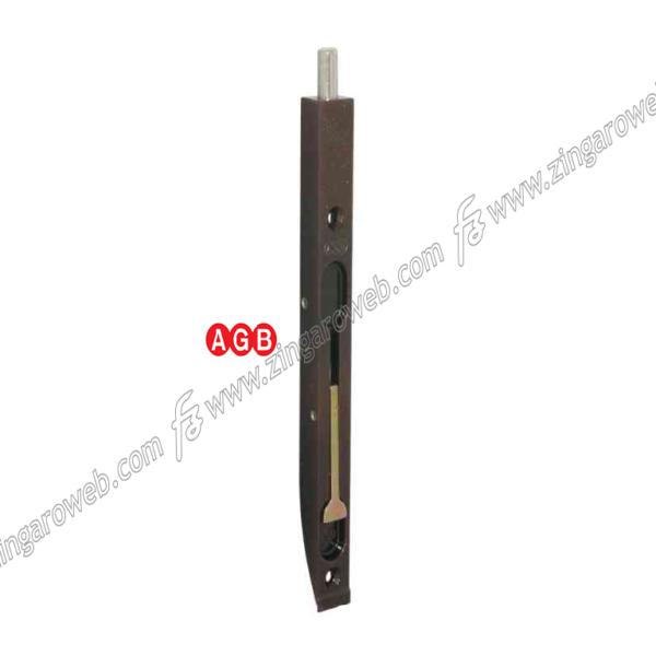 CATENACCIO INCASSO A LEVA PESANTE FRONTALE DA 20x400 mm. ZBR-BRONZATO prodotto da AGB