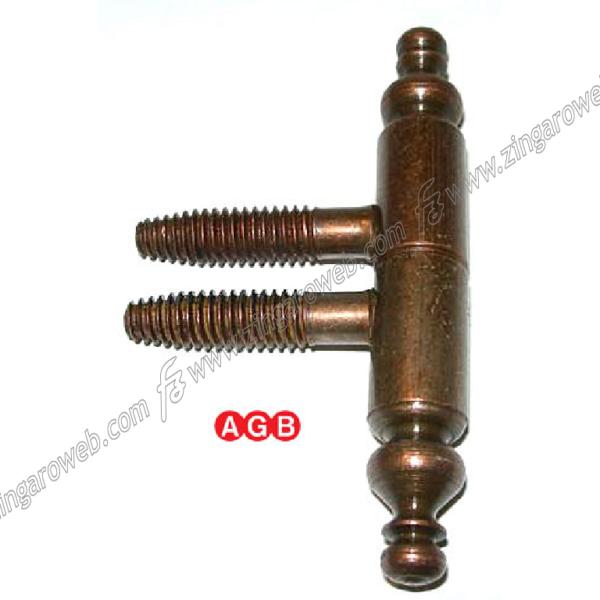CERNIERA PER LEGNO ANUBA 2 GAMBI SENZA SEGNO BAROCCO d.9 mm. BRONZO prodotto da AGB