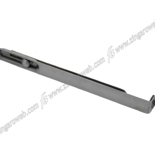 CATENACCIO INCASSO FRONTALE ASTA d.10 mm. DA 20X200 mm. AL-ACCIAIO LUCIDO prodotto da ALDEGHI