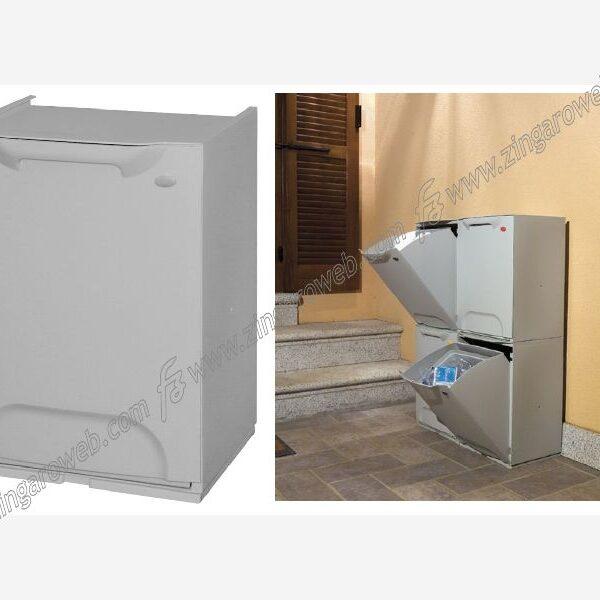 MODULO PATTUMIERA DIFFERENZIATA CON SECCHIO DA 20 l.DA 34x28x47 cm.BIANCO prodotto da ARTPLAST