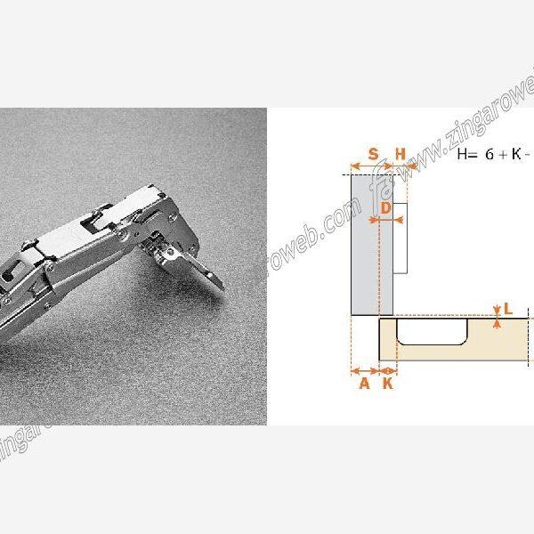 """CERNIERA AUTOMATICA """"200"""" DIAMETRO 35 mm. APERTURA 165° SORMONTO 0-9-17 prodotto da ARTURO SALICE"""