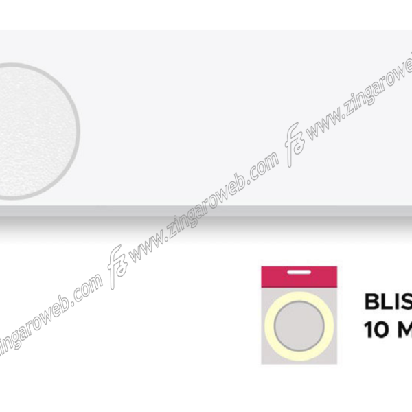 BLISTER BORDO ABS SENZA COLLA SPESSORE mm.1 BIANCO ANTIGRAFFIO 10 mt. 24-30h prodotto da LAMINBORD