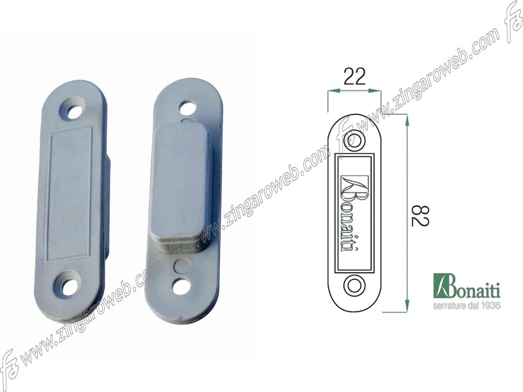 """DISTANZIALE MAGNETICO INVISIBILE """"DM1"""" mm.82x22x15h ABS NEUTRO GRIGIO NZ.X01-X02 pz.2 prodotto da BONAITI"""