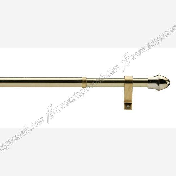 BISTRO SCORRITENDA TUBO ESTENSIBILE ORO DIAMETRO 12 mm. ESTENSIBILE FINO A 70-125 cm.