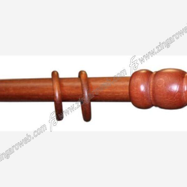 BASTONE LEGNO A TIRO DIAMETRO 35 mm. DA 180 cm. CILIEGIO