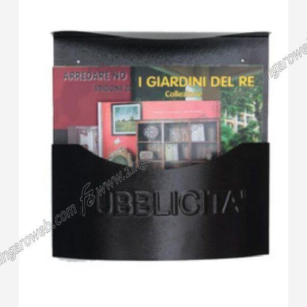 PORTAPUBBLICITA' IN LAMIERA CON TETTO TIPO MARSUPIO DA 345x100x350 mm. BRZ-BRONZATO