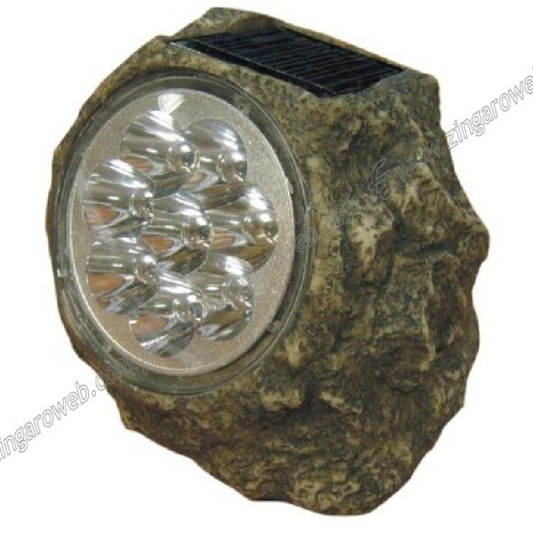 """LAMPADA DA GIARDINO SOLARE """"GRANITO"""" 8 LED DA 12 cm."""
