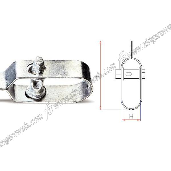 TENDIFILO n.2 mm.30x25x115 ZINCATO