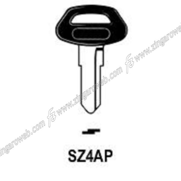 CHIAVE GREZZA AUTO-MOTO TESTA PLASTICA SUZUKI CA61P/SZ4AP