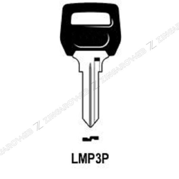 CHIAVE GREZZA AUTO-MOTO TESTA PLASTICA LMP LP3P/LMP3P
