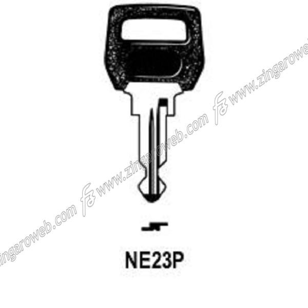 CHIAVE GREZZA AUTO-MOTO TESTA PLASTICA NEIMAN NM20P1/NE23P