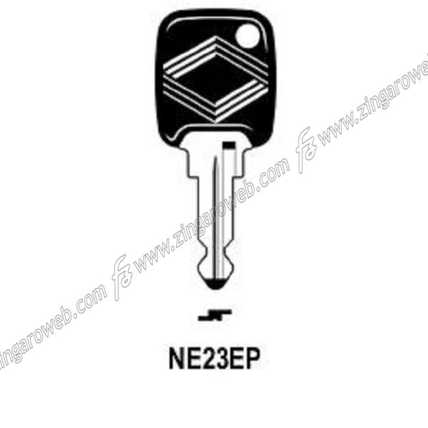 CHIAVE GREZZA AUTO-MOTO TESTA PLASTICA NEIMAN NM20P3/NE23EP