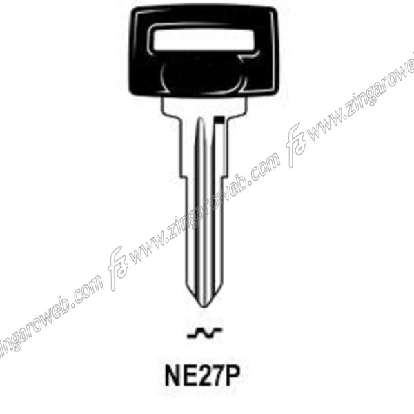 CHIAVE GREZZA AUTO-MOTO TESTA PLASTICA NEIMAN NM46P/NE27P