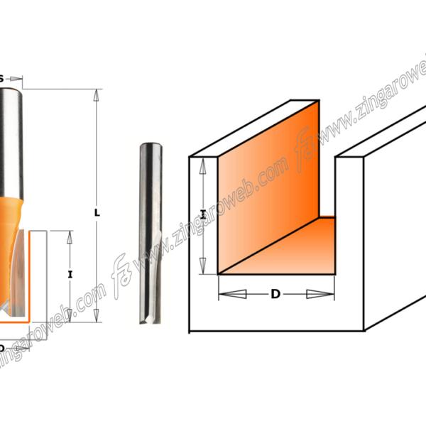 FRESE A TAGLIENTI DIRITTI PER CANALI CORTA GAMBO S.6 DA 3/6 mm. HWM prodotto da CMT UTENSILI