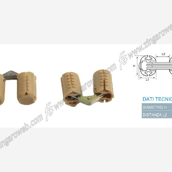 CERNIERA INVISIBILE mm.12 PLASTICA MONTATA MARRONE