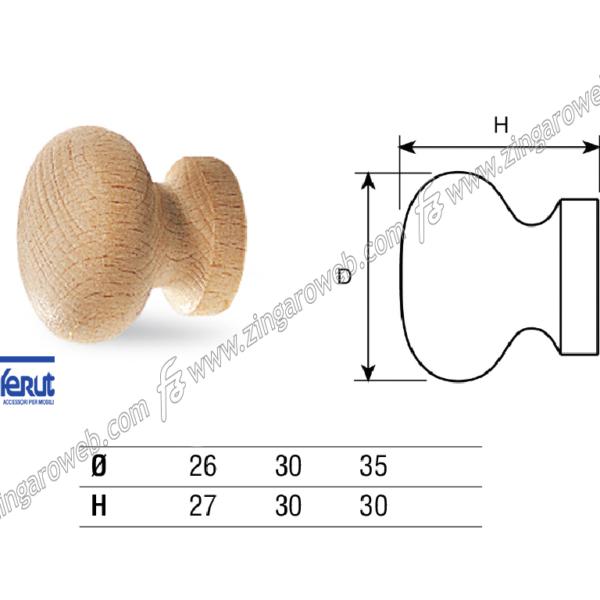 POMOLINO MOBILE LEGNO FAGGIO CON BUSSOLA DA 26x27 mm. prodotto da COF