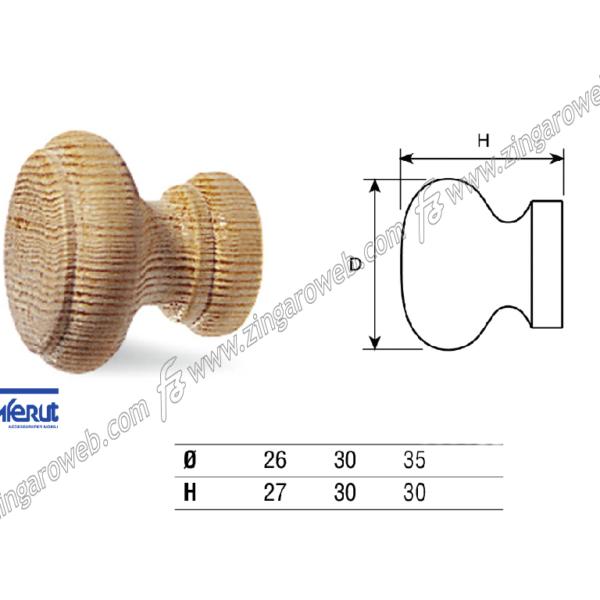 POMOLINO MOBILE LEGNO PINO CON BUSSOLA DA 30x30 mm. prodotto da COMFERUT