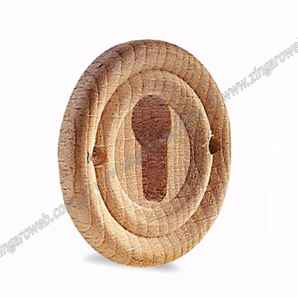 BOCCHETTA MOBILE LEGNO FAGGIO DA 34 mm. CON FORI prodotta da COF
