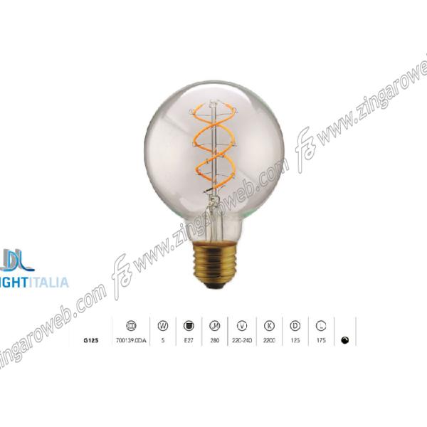 LAMPADA LED DL VINT FIL TM G125 220/240V 5W 2200K SPIRAL DIM CLEAR prodotto da DAYLIGHT