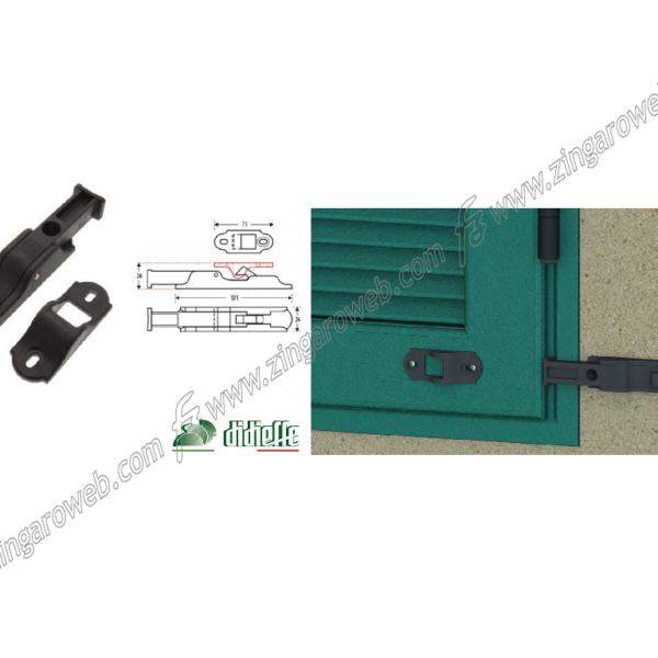 FERMAPERSIANA AUTOMATICO CON MOLLA NYLON mm.121x26x26 prodotta da DIDIEFFE