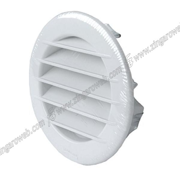 GRIGLIA INCASSO CON RETE CORNICE TONDA ESTETICA+CLIP BIANCO DIAMETRO 100 mm prodotta da LA VENTILAZIONE