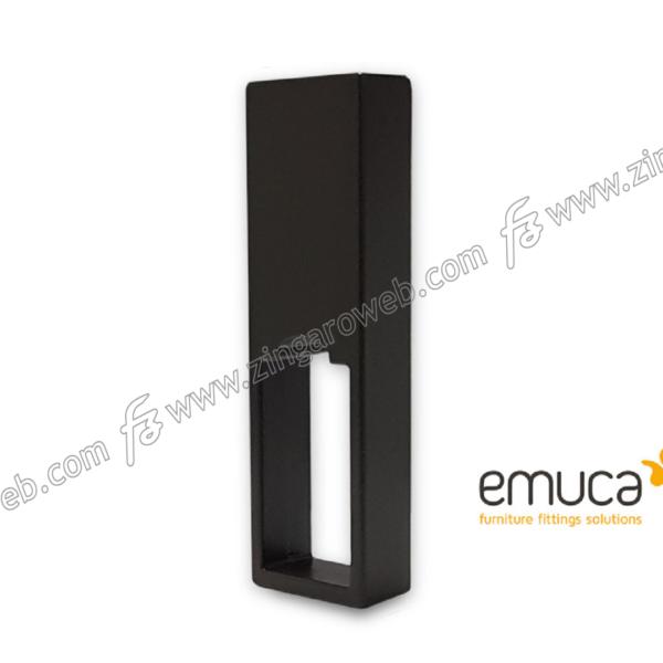 REGGITUBO CENTRALE APERTO PER TUBO RETTANGOLARE LUXE d.10x20x65h MOKA RAL8019 prodotto da EMUCA