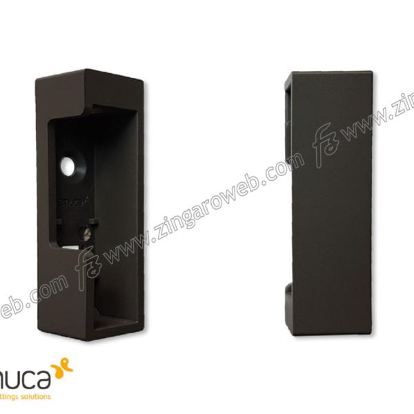 REGGITUBO LATERALE PER TUBO RETTANGOLARE LUXE PLASTICA d.19,5x29,5x65h DX-SX pz.2 MOKA RAL8019 prodotto da EMUCA