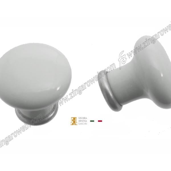 POMOLINO MOBILE CERAMICA DA 30x27 mm. NEUTRO ARGENTO ANTICO prodotto da FONDERIA LANCINI