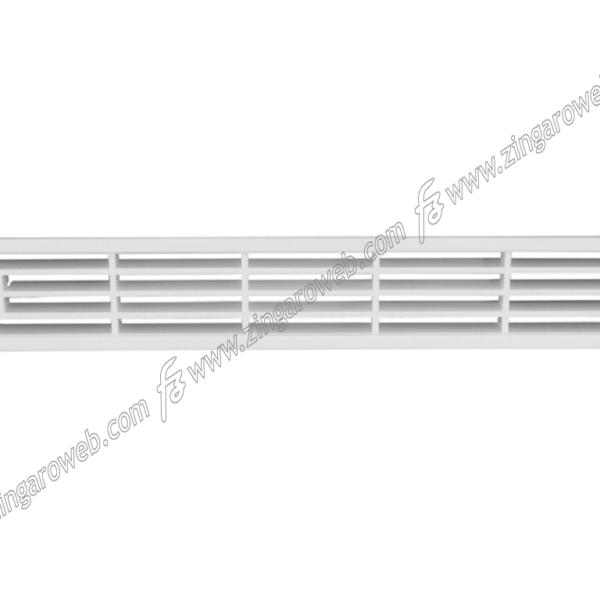 GRIGLIA INCASSO RETTANGOLARE PLASTICA BIANCO DA 204x30x13 mm. prodotto da FAVARO