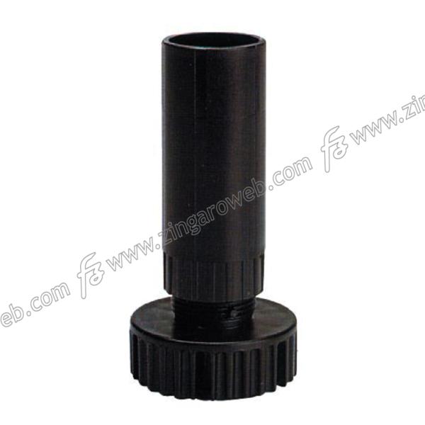 BLISTER PIEDI PVC A TUBO INNESTO PER BASE DA 15 cm. NERO 4 PEZZI prodotto da VOLPATO