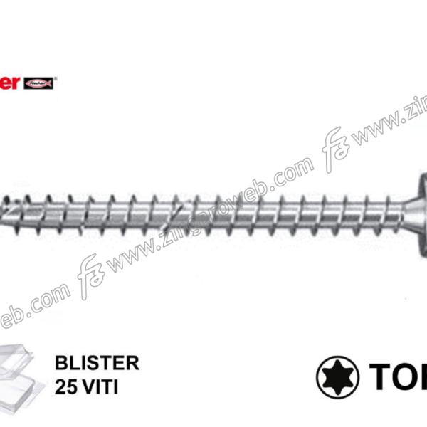 BLISTER VITE LEGNO TC TORX TX20 FPF-PT ZPF ZINCATA 5,0 pz.25 prodotto da FISCHER