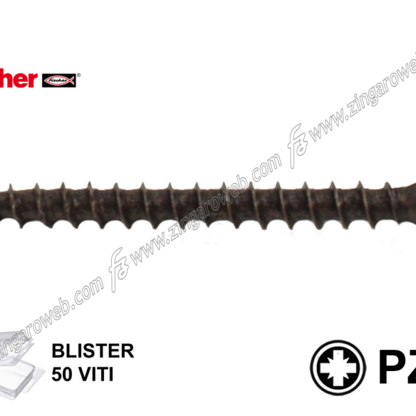 BLISTER VITE LEGNO TSP IMPRONTA CROCE PZ1 FPS-SZ BUF BRONZATA pz.50 mm. 3,0x40 prodotto da FISCHER