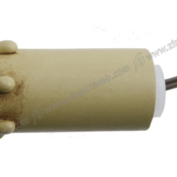 PORTALAMPADA CANDELA ANTICO IN LEGNO E14 LUNGHEZZA 60 mm.