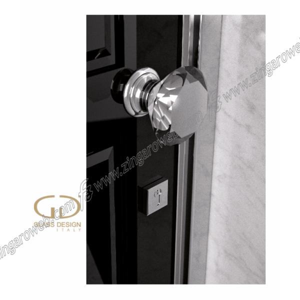 POMOLO FISSO DELUXE TRASPARENTE/CROMO prodotto da GLASS DESIGN