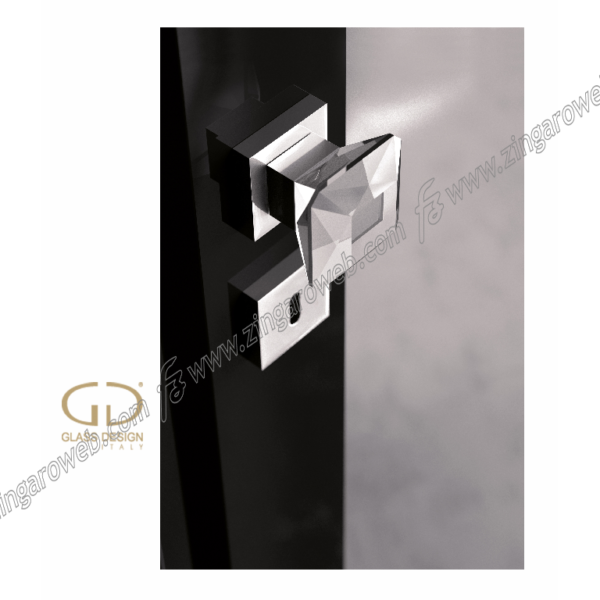 POMOLI GIREVOLI DIAMOND Q FORO CHIAVE TRASPARENTE/CROMO prodotto da GLASS DESIGN