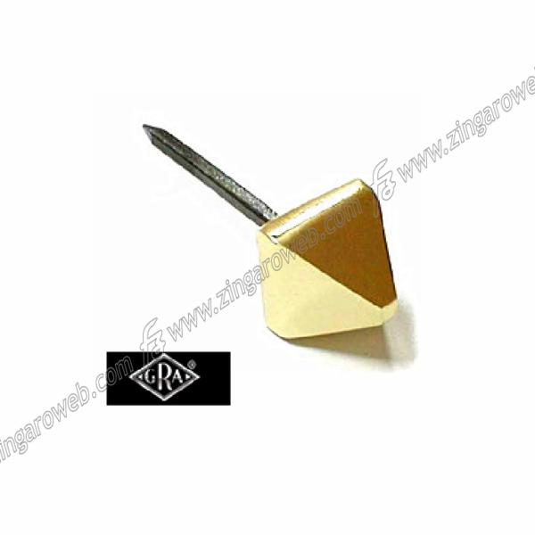 CHIODO QUADRO PIRAMIDE ROMANO DA 20x20/25x25 mm. OLV (Ottone Lucido Verniciato) prodotta da GRA RIVADOSSI