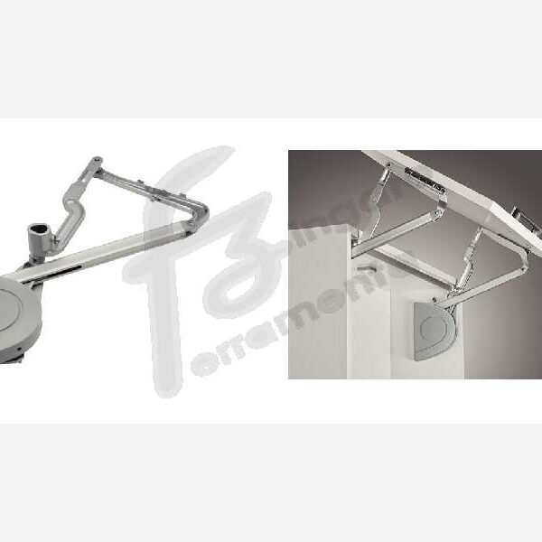 GUARNITURA VERSO APERTURA BASCULANTE mod.D 8-17 kg. ALTEZZA 650-800 mm. prodotto da HAFELE