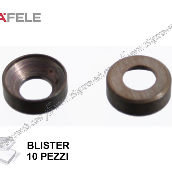 BLISTER ROSETTA PER VITE TESTA SVASATA BRUNITA 10 pz. DIAMETRO INTERNO/ESTERNO 4,5/13 mm. prodotto da HAFELE