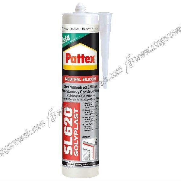PATTEX SL620 FUSION SILICONE NEUTRO SERRAMENTI ml.300 AVORIO RAL1013 HENKEL