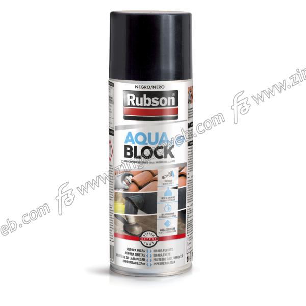 RUBSON AQUABLOCK SPRAY IMPERMEABILIZZANTE GOMMOSO ml.300 NERO prodotto da HENKEL